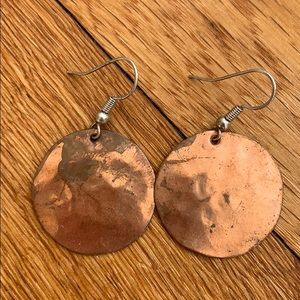 Jewelry - Copper Circle Earrings